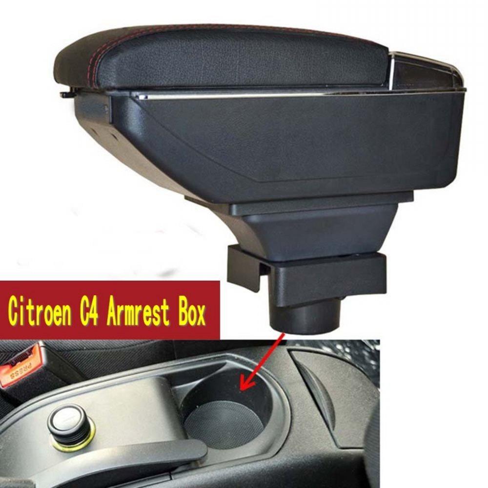 Ящик для хранения центральной консоли Citroen C4 хэтчбек 2004-2010 подлокотник вращающийся 2005 2006 2007 2008 2009