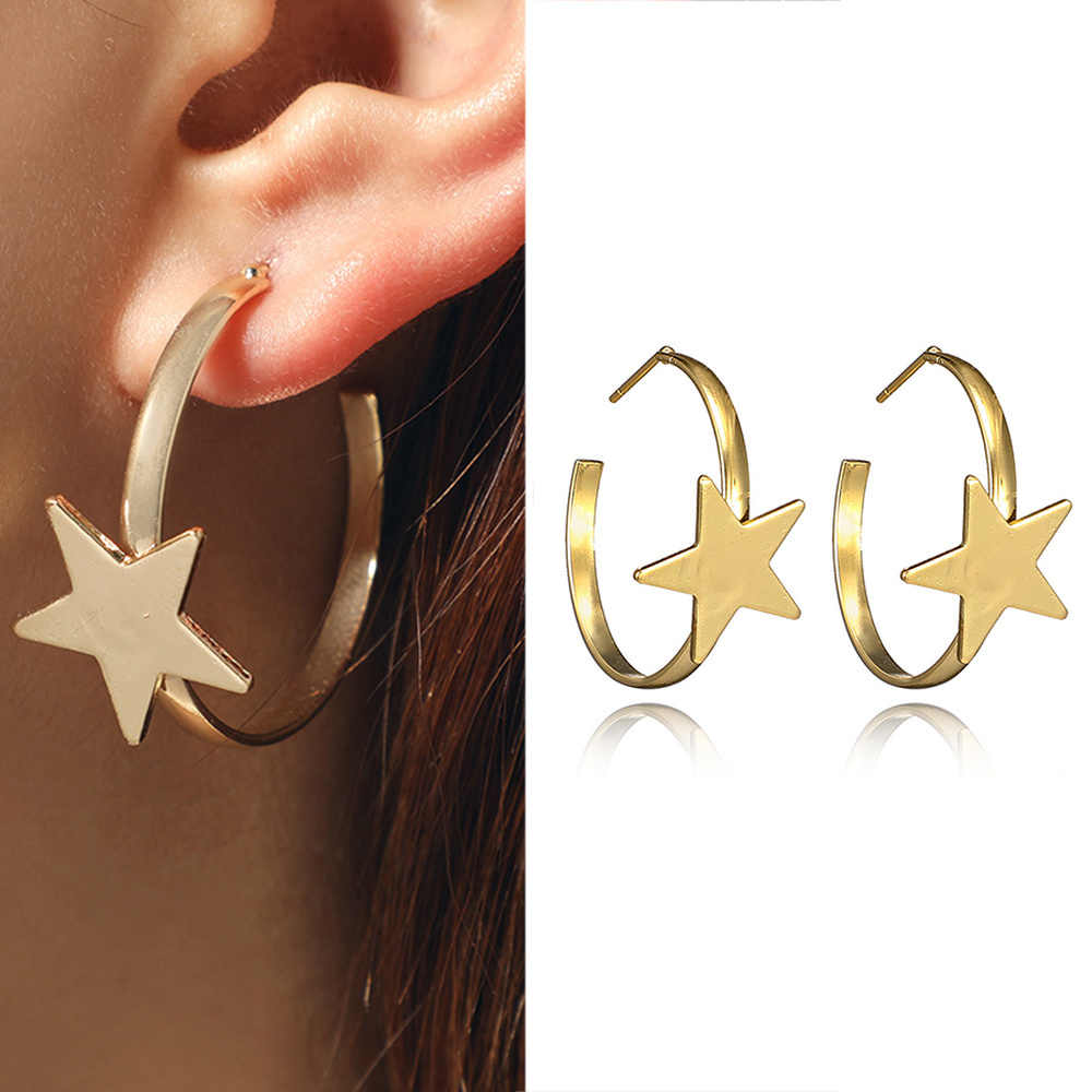 New Earrings Women's Crystal Ear Ring Set Popular Gold Star Shell Earrings Wholesale Earrings For Women Earings Fashion Jewelry