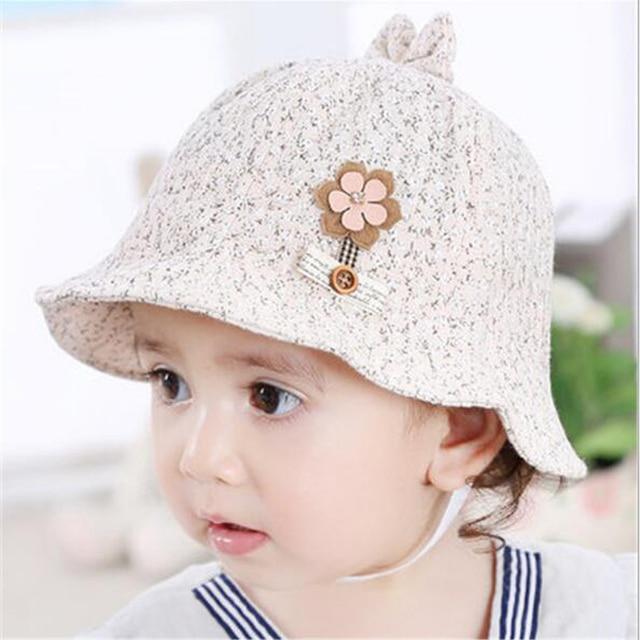 2017 Kids summer Caps Baby Hats   Caps Fashion cotton little baby Cap Baby  Girls Sun hat High Quality boys outwear girls bonnet b3b4b99d64f