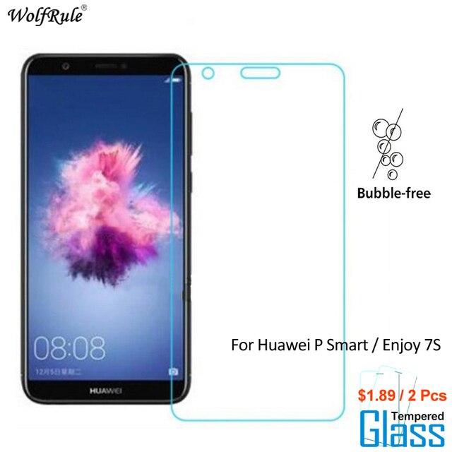 2Pcs For Glass Huawei P Smart Screen Protector Tempered Glass For Huawei P Smart Glass Phone Film For Huawei Enjoy 7S