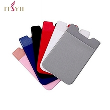 ITSYH 10 colors Mobile Phone Credit Card Wallet ID Credit Card Holder Solid Mobile Phone Card Wallet Elastic Pocket Accessory raika sf 228 tan credit card wallet tan
