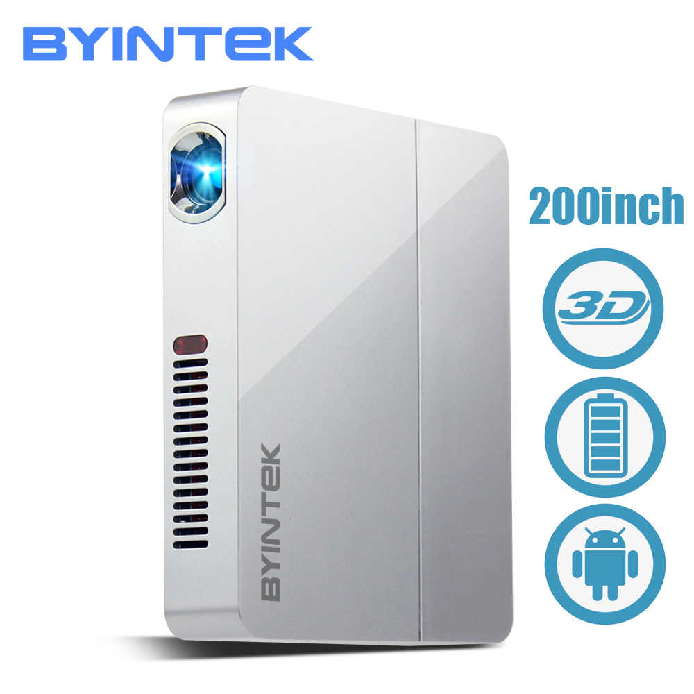 BYINTEK UFO R9 Smart Android Top Version WIFI Video Micro Portable DLP Mini LED 3D Projector