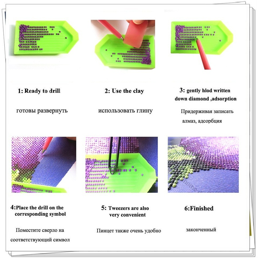 5D DIY Diamond embroidery Алтын жасыл - Өнер, қолөнер және тігін - фото 5