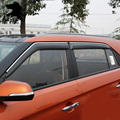 Para Hyundai Creta/ix25 visera ventana ABS cubren ropa de lluvia Toldos Refugios cuerpo Exterior productos de decoración accesorios 2015-2016