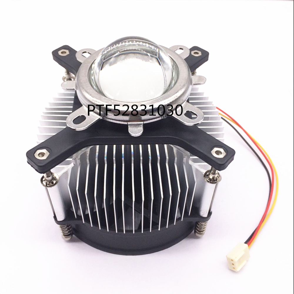50 Вт 100 Вт высокомощный светодиодный радиатор DC 12 В 1.2A светодиодный охлаждающий вентилятор + 44 мм набор линз