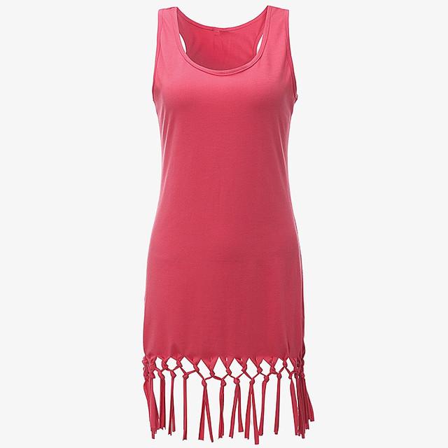 Casual Sleeveless Vestidos Vest Mini Dresses