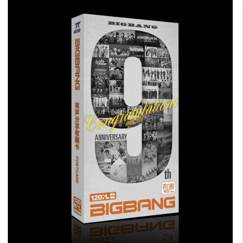 kpop bigbang 9th anniversary postcards big bang pictures stickers