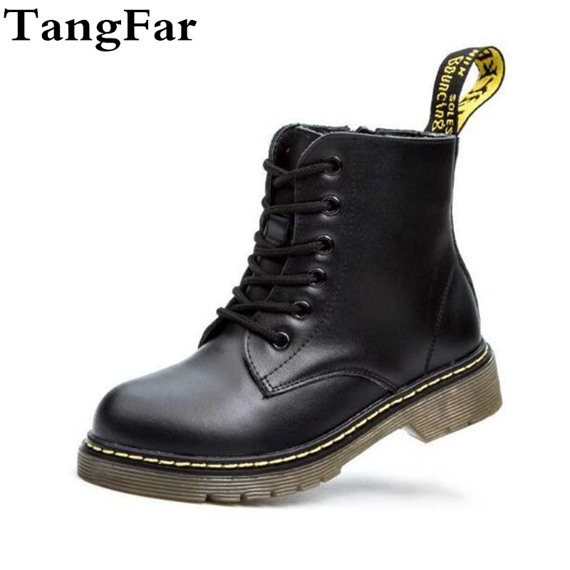 Genuine Leather Kids  Boots Snow Shoes Waterproof Warm Fur Children Ankle Boots Toddler Boys Winter Sneakers 2019
