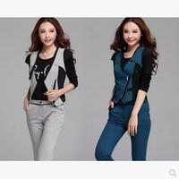 Spring Autumn 2015 New Korean Version Women Was Thin Slim Casual Professional Ladies Fashion Tide Sleeved