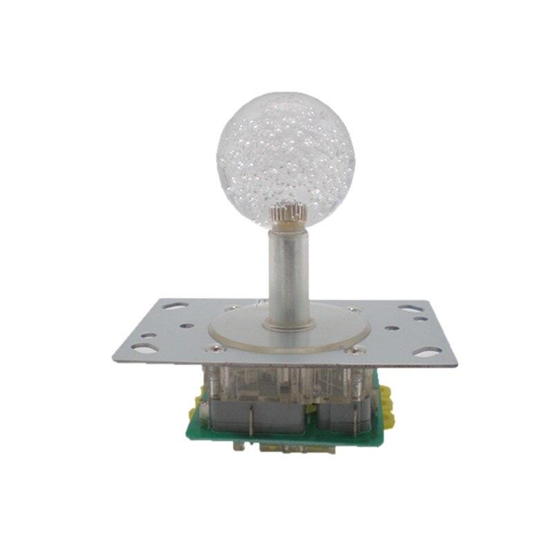 Додаци за аркадне игре више боја осветљени Осветљени џојстик са кристалном куглом и сребрним контактним микропрекидачем