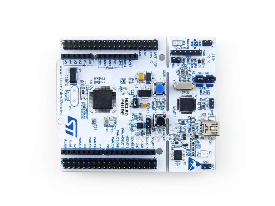 Original ST NUCLEO-F411RE, Development board for STM32 F4 series - with  STM32F411RE MCU supports Arduino Free Shipping