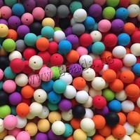 Free Shipping 100PCs/Lot 10mm 12mm Silicone Baby Food Grade Rubber Teething Wholesale mixed colors jewelry materials Round Beads
