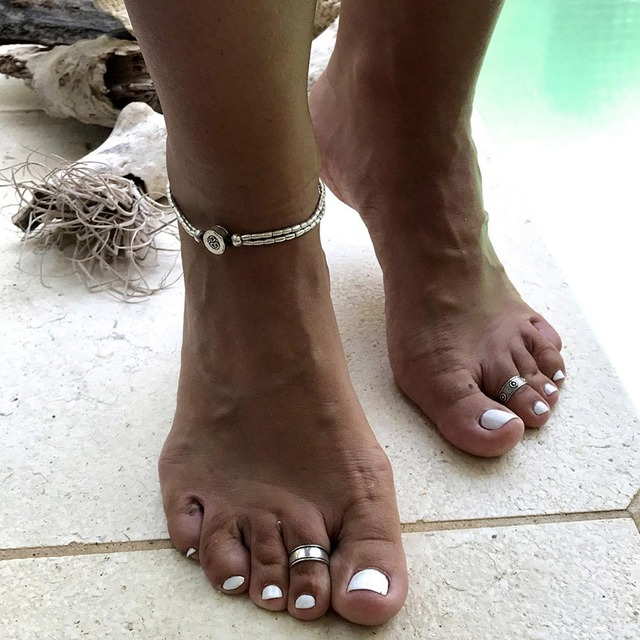 Boho Starfish Anklet Vintage Ankle Bracelet For Women Buddha Foot Jewelry Summer Barefoot Beach 1