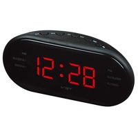 LanLan New Fashion Modern AM FM LED Clock Radio Electronic Desktop Alarm Clock Digital Table Clocks