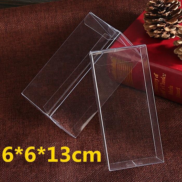 50 Pçs lote 6 6 13 cm Casamento Chocolates e Doces Caixa de Presente Do  Bebê Como caixa de Armazenamento Caixa de Plástico PVC Caixas de Exibição  Branco c16461140e