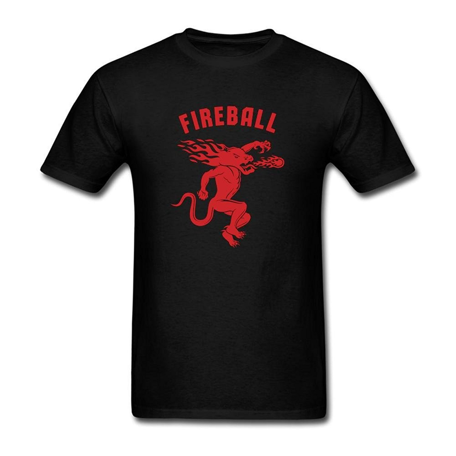 Free Shipping Men T Shirt Cotton Cool Design Premium Crew Neck posar Mens Fireball Cinnamon Whisky