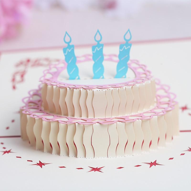 3 д торт открытка своими руками