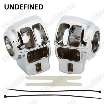Chrome Motorcycle Accessories Handlebar Switch Housing Cover Case For Harley Street Glide Road Glide UNDEFINED