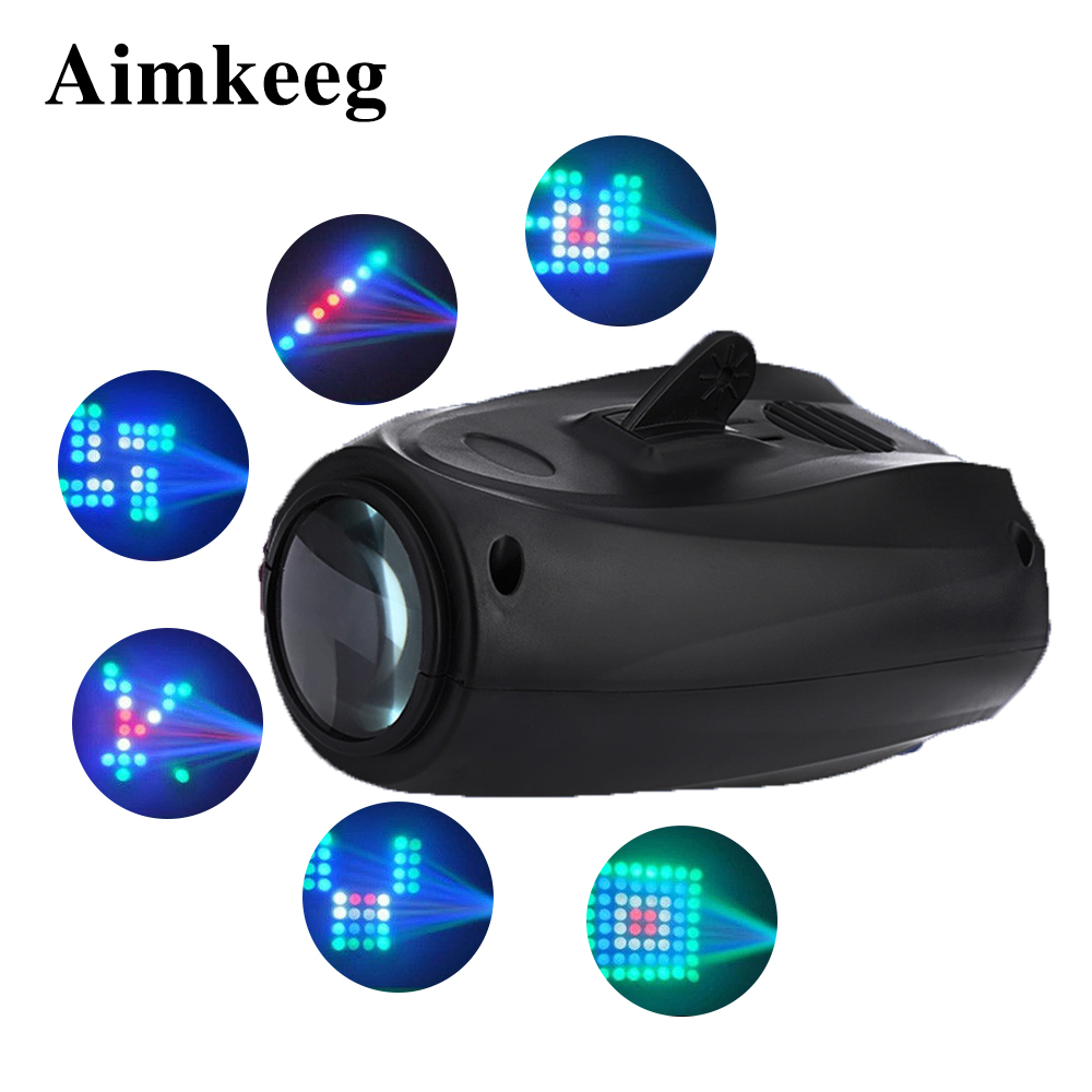 Stage Light Disco Laser Projector 64LED DJ Prom Performance Christmas Decorations For Home DMX Controller Party Strobe Lamp