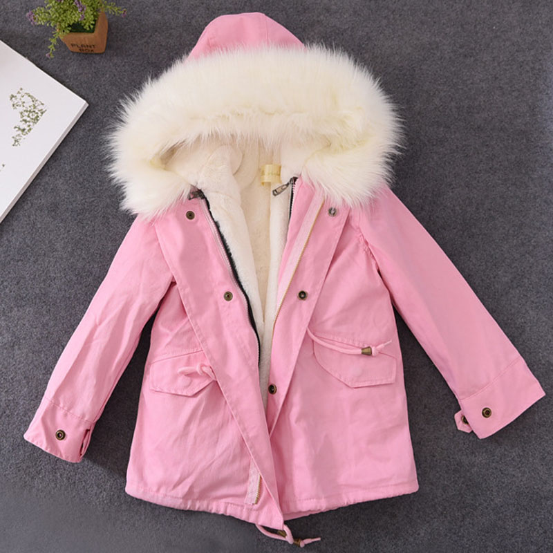 Brand New Boys Girls Winter Warm Jackets Kids Spring Autumn Clothes Hooded Thick Jacket Children Natural Fur Clothing Outerwear women winter coat leisure big yards hooded fur collar jacket thick warm cotton parkas new style female students overcoat ok238