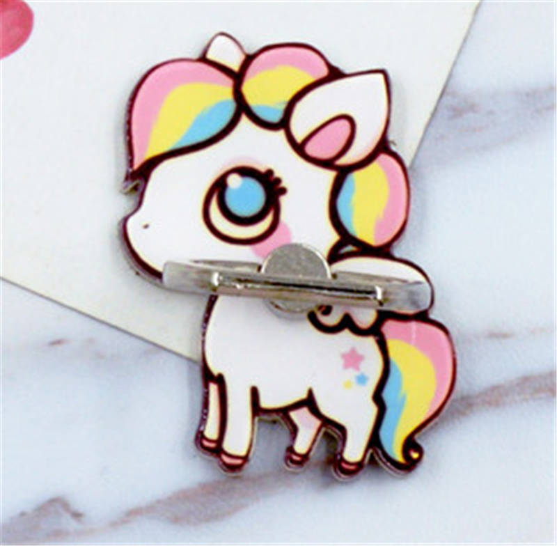 Beautiful Uvr Rainbow Unicorn Mobile Phone Stand Holder Animal Pegasus Finger Ring Mobile Holder Stand For Iphone Xiaomi Huawei All Phone Mobile Phone Holders & Stands