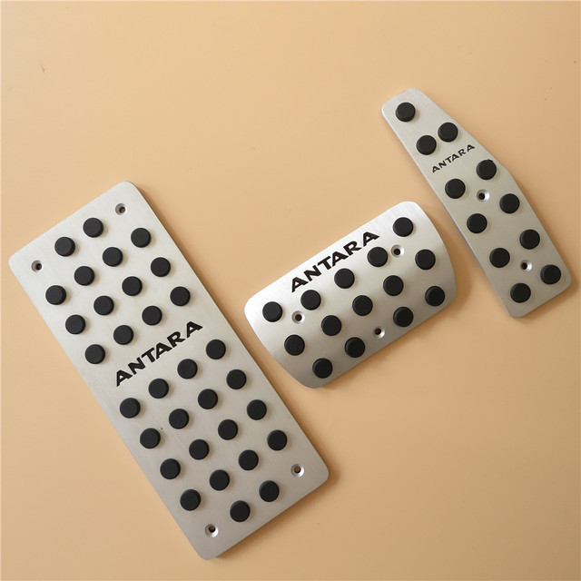 Car accessories For Opel ANTARA Fuel Brake Foot Rest Automatic pedals Plate Non slip Accelerator brake AT pedal Pads pad Styling