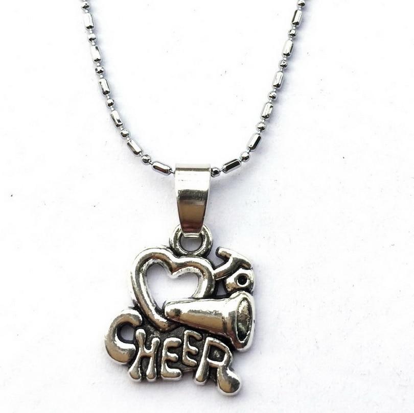 Heart Cheer Chain Neklace-Megaphone Cheer Squad Team Gift Girls Cheering