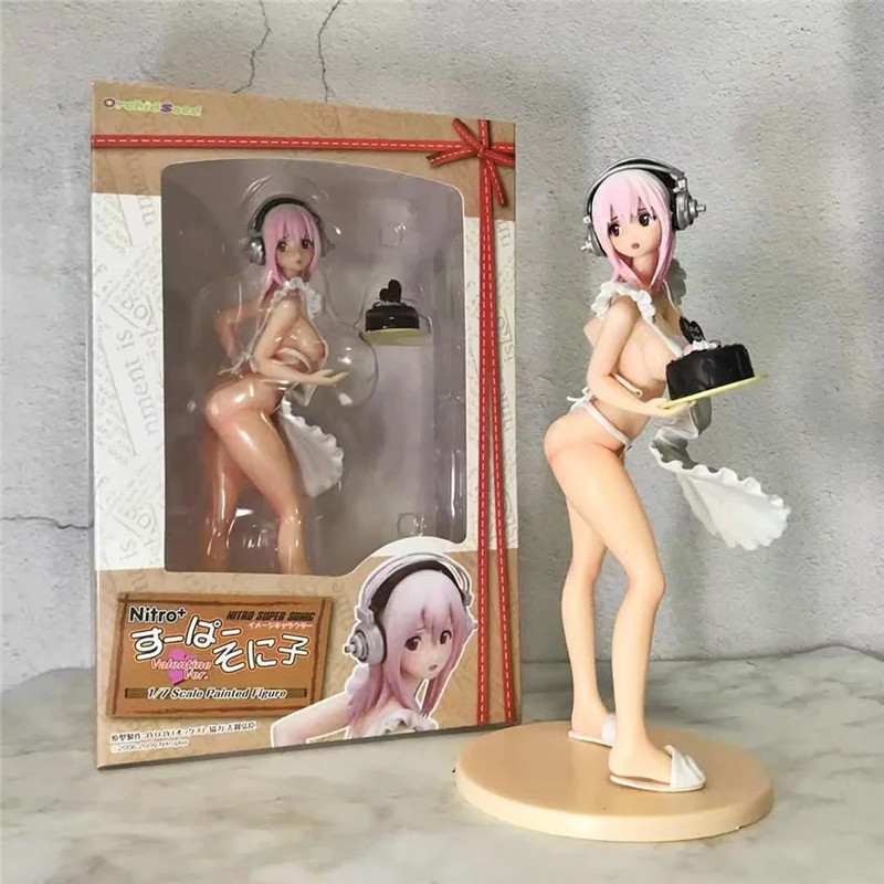 Sexy Figures Super Sonic SUPERSONICO PVC Action Figure Doll Sexy Girl Collectible Model Toy Brinquedos 21cm 1 6 scale figure doll troy greece general achilles brad pitt 12 action figures doll collectible figure plastic model toys