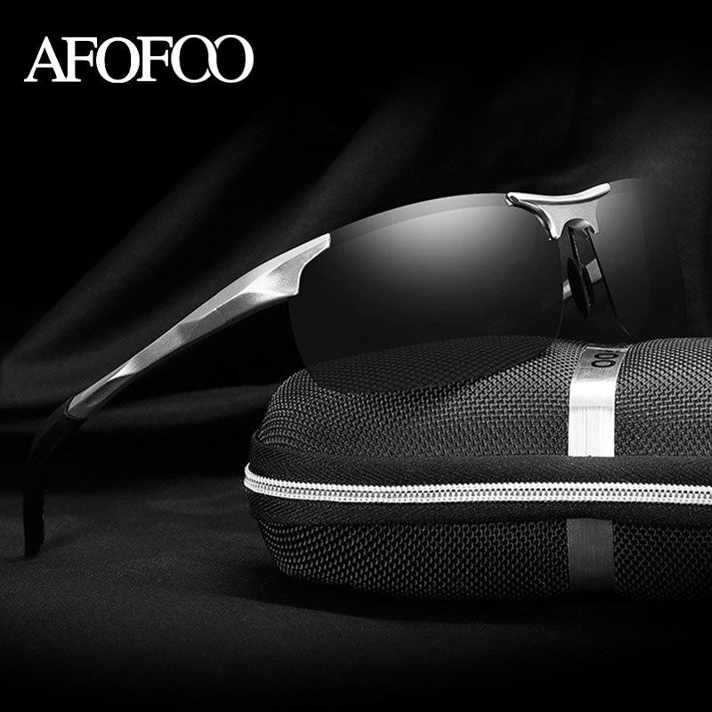 AFOFOO Aluminum Magnesium Men s HD Polarized Sunglasses Brand Design Men Driving Sun glasses Male Mirror