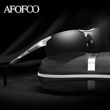 AFOFOO Aluminum Magnesium Men's HD Polarized Sunglasses Brand Design Men Driving Sun glasses Male Mirror UV400 Shades Eyewear