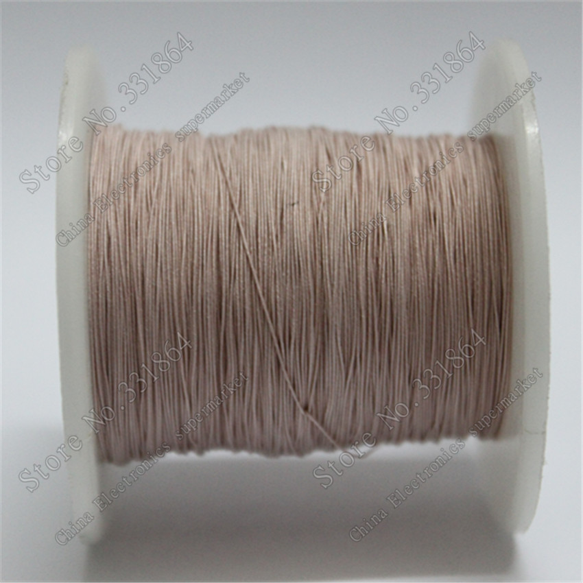 0.04X60 strands,100m /pc Free Shipping  0.04X60 strand yarn wrapped wire multi-strand polyester wire rope Lize line copper wire wire