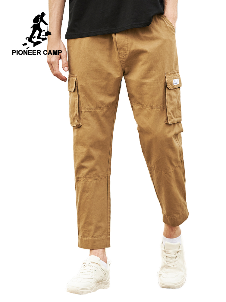 Pioneer Camp 2019 High Quality Men's Cargo Pants Casual Loose Multi Pocket Military Nine Minutes Of Pants AXX902192