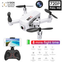 New Mini Foldable Drones Wifi FPV with 480P/720P HD Camera Light Flow Constant Headless Mode Dron Quadcopter For Kids Gifts Toys
