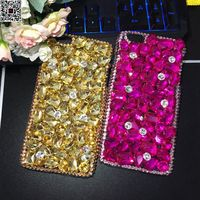 For iPhone X 10 Jewelled Diy Handmade Crystal Crown Rhinestone Phone Case for iPhone 8 Plus 7 6 6S Luxury Diamond Cover Shell