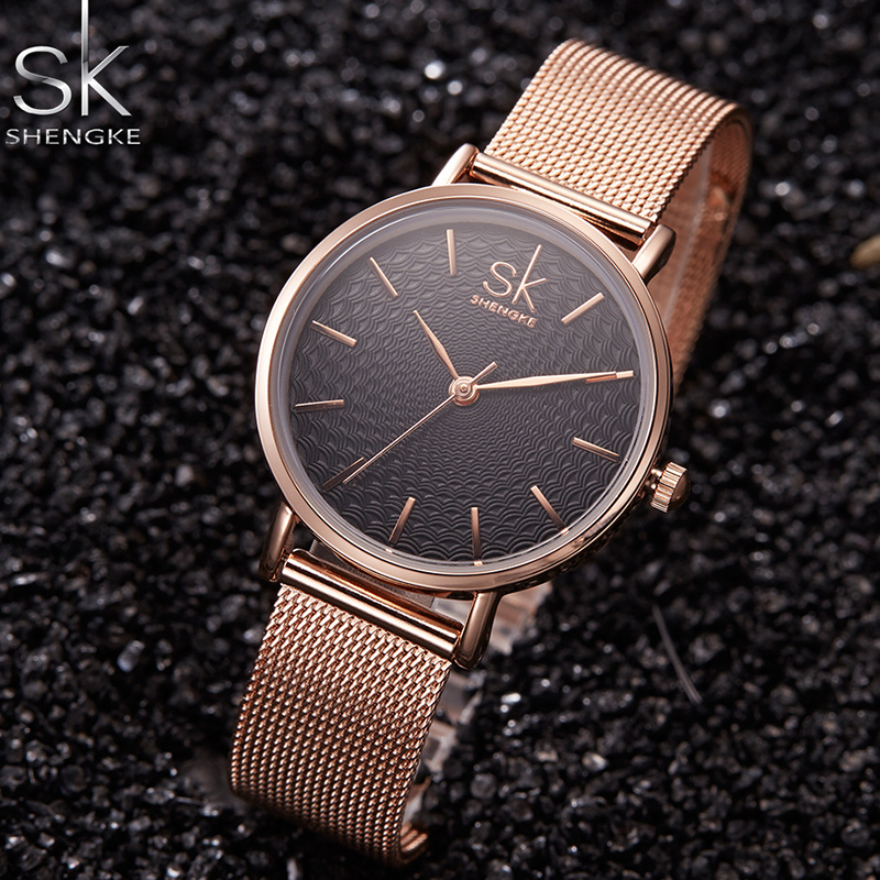 Women's Watch SK Luxury Brand Watch Lady Gold Bracelet Fashion Geneva Quartz Watch Women Stainless Steel Clock Relogio Feminino luxury geneva brand fashion gold silver watch women ladies men crystal stainless steel dress quartz wrist watch relogio feminino