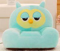 creative new stuffed owl sofa toy green cartoon owl floor seat tatami about 50x45cm s1957
