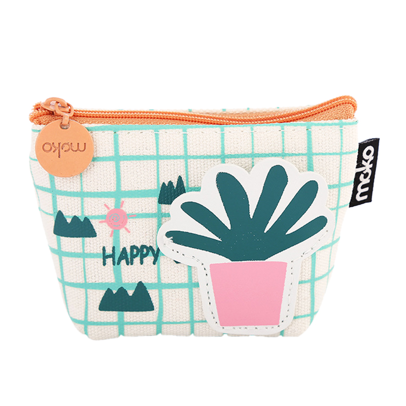 Laamei Cartoon Women Coin Purse Cactus Girls Purse Fashion Money Bag Change Pouch Coin Key Holder Portable Girls Coin Wallet 2017 new fashion women owl cute pu leather change purse wallet bag girls coin card money pouch portable purse small bag jan12