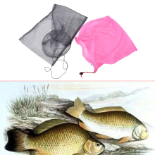 Mini Nylon Portable Crab Crawdad Shrimp Fish Minnow Fishing Bait Trap Cast Dip Net Cage Fishing Bait Trap color random