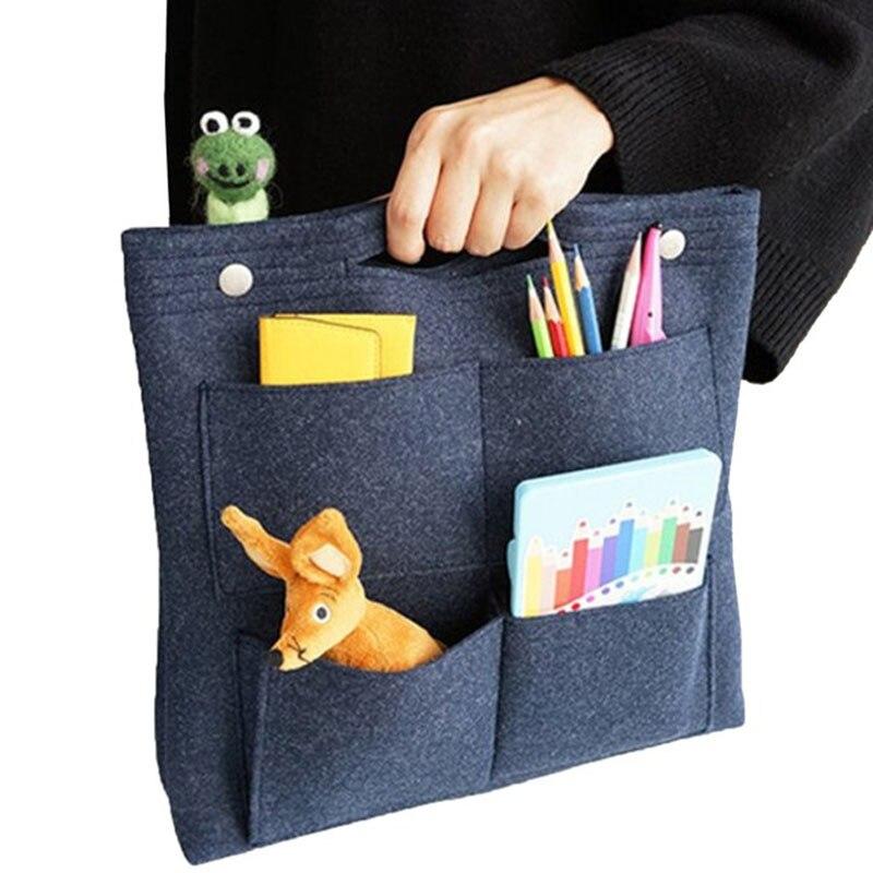Multi-function Make Up Bag,Felt Insert Purse Organizer,Multi Pocket Cosmetic Bags In Bag Organizer For Tote & Handbag Shaper