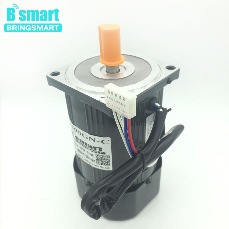 Bringsmart 220V AC Motor High Speed Motor 90W Reversible Micro-Sensor Regulation Motor Induction Motor + Speed Controller