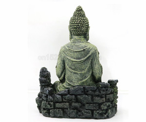 Image 4 - Cổ Đại Tượng Phật Nhựa Trang Trí Bể Cá Cho Cá Vật Trang Trí Trang Trí Landscap Trang Trí