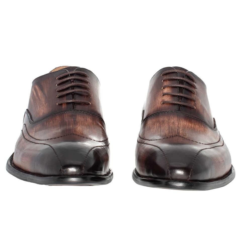 Giày nam Da Thật Chính Hãng Da Mũi Nhọn Công Sở Handmade Kinh Doanh Hỗn Hợp Màu Cà Phê Tiệc Cao Cấp Chính Thức Oxfords nam Giày