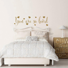 You Are So Loved Quotes Wall Sticker Children Room Quote Lettering Decals Removable Baby Nursery Love Decor Q326