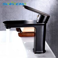 Faucet Black Faucet Basin Sink Mixer Tap Brass Made Cold And Hot Water Basin Faucet Water