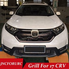 Фотография JNCFORURC GRILL For Honda CRV 2017 SUV High Performance Racing Sport Grill FOR CRV 2017 ABS Chrome Material Grill Part
