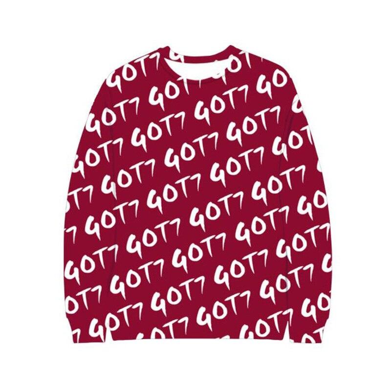 K POP KPOP GOT7 One Piece Hoodie GOT 7 3D Letter Print Tumblr Sweatshirt Men Women Hipster Hip Hop Streetwear Hoody Tracksuit