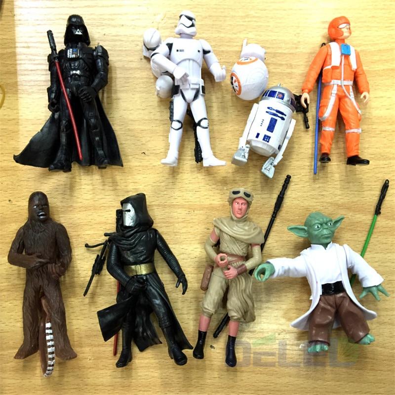 9Pcs/Set <font><b>Star</b></font> <font><b>Wars</b></font> Figurine <font><b>The</b></font> <font><b>Force</b></font> <font><b>Awakens</b></font> <font><b>Black</b></font> <font><b>Series</b></font> White Soldiers Robot Dolls For Kids Toys Gifts