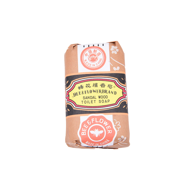 Sandalwood Handmade Soap Oil-control Whitening Deep Cleaning Hand Face Body Washing Soap 25g Bee Flower Essence Soap 1
