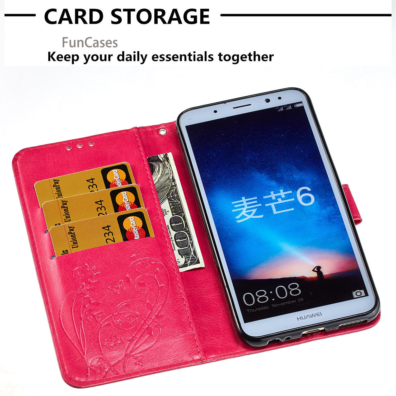 Embossing Flip Phone Case sFor Hoesje Huawei Mate 10 Lite Bracket Case Capinha Huawei Ascend Maimang 6 Honor 9i Huawey Nova 2i
