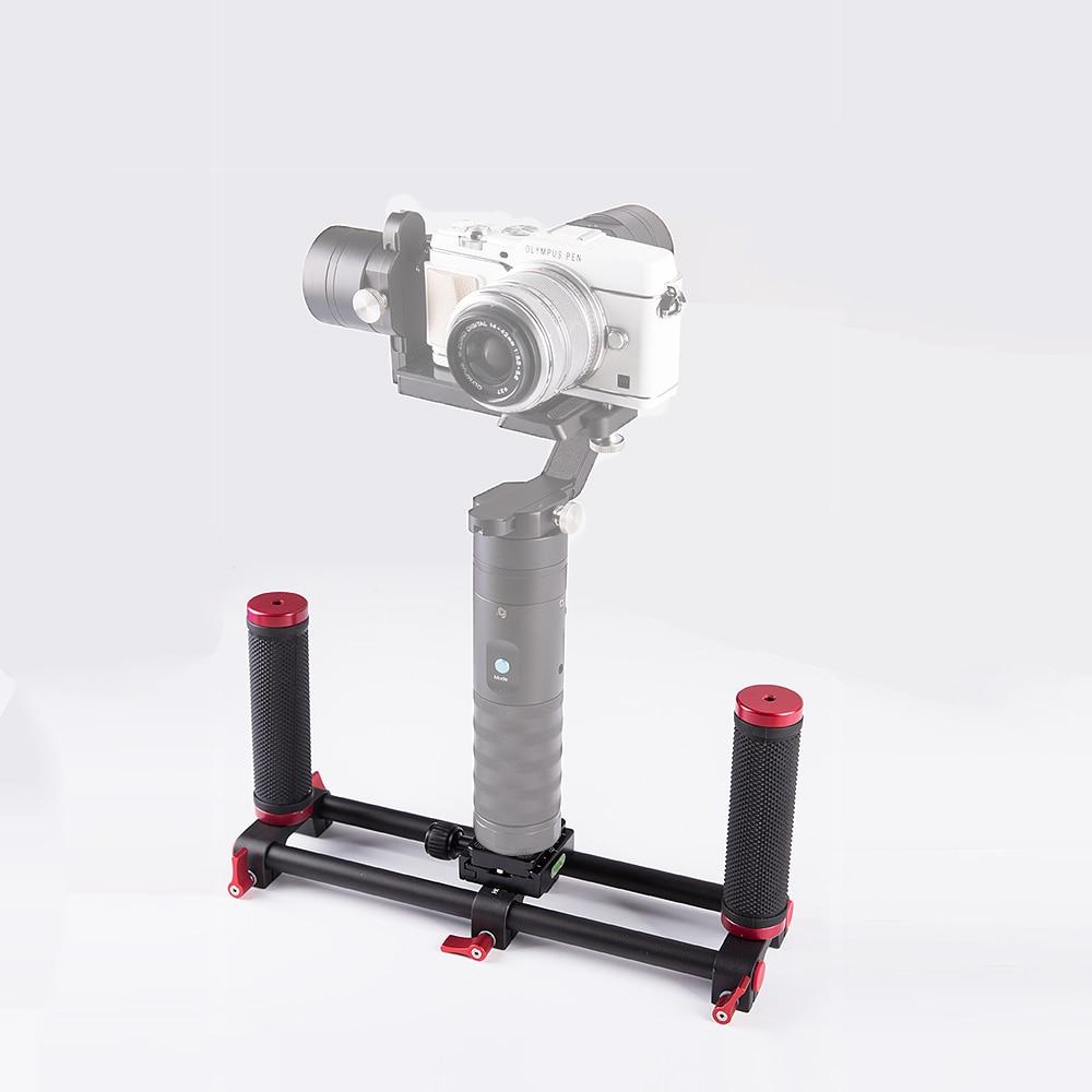 Dual Handheld Grip Bracket Kit for Zhiyun Crane / Crane M Beholder MS1 DS1 3 Axis DSLR Brushless Camera Stabilizer brushless gimbal metal holder bracket for dslr beholder ds1 gimbal ms1 ec1